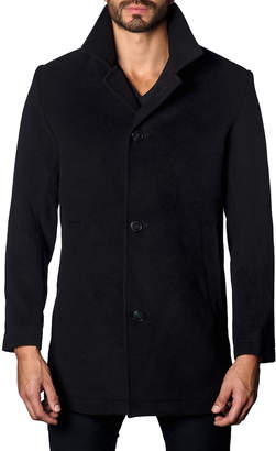 Jared Lang Men's Wool Button-Front Coat