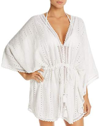 Echo Eyelet Caftan Swim Cover-Up