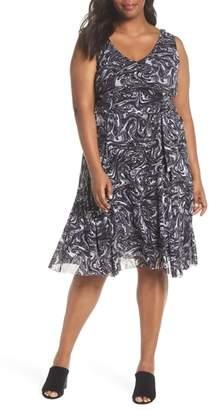 MICHAEL Michael Kors Watermark Swirl Flare Tank Dress