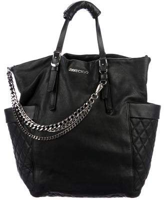 Jimmy Choo Large Leather Blare Tote