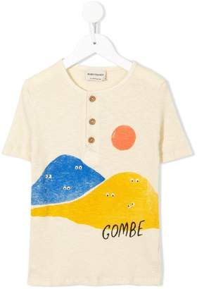 Bobo Choses buttoned ribbed T-shirt