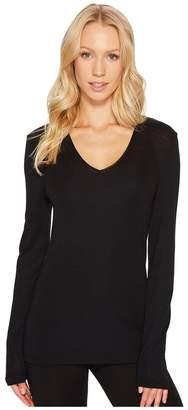 Hanro Woolen Silk Long-Sleeve Shirt 1418 Women's Long Sleeve Pullover