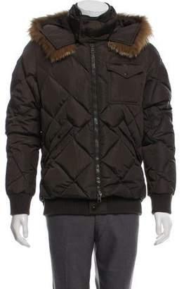 Moncler Fur-Trimmed Harrison Jacket