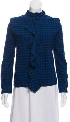 Golden Goose Gingham Button-Up Top