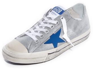 Golden Goose V-Star 2 Sneakers $480 thestylecure.com