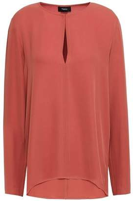 Theory Silk-crepe Blouse