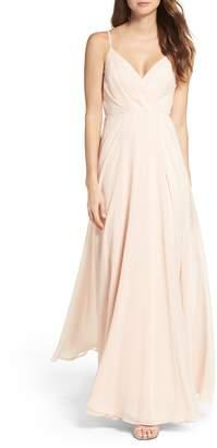 LuLu*s Surplice Chiffon Gown