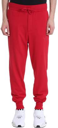Y-3 Red Cotton Pants