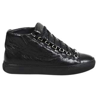 Balenciaga Black Leather Trainers