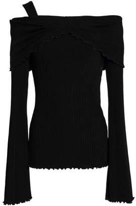 Ellery Off-The-Shoulder Ribbed-Knit Top