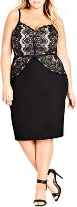 City Chic Spell It Out Sheath Dress