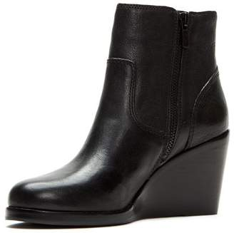Frye Women's Emma Short Wedge Heel Leather Booties