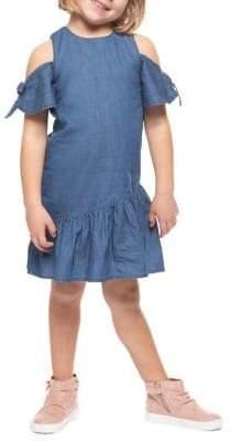 Dex Little Girl's Cotton Tie-Sleeve Dress