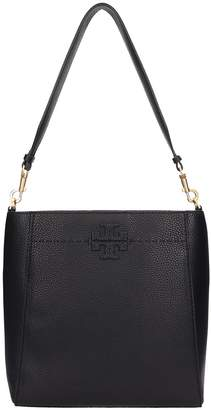 Tory Burch Black Leather Mcgraw Hobo Bag
