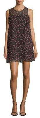 BCBGeneration Floral Woven Cocktail Dress