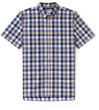 Lacoste Men's Regular Fit Check Poplin Shirt