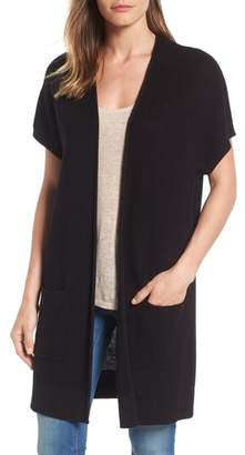 Caslon Shaker Stitch Open Front Cardigan