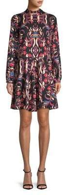 Vero Moda Long-Sleeve Floral Shift Dress