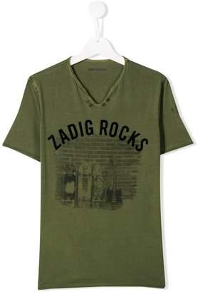 Zadig & Voltaire Kids TEEN Zadig Rocks print T-shirt