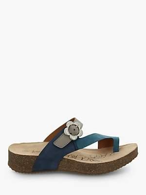 065cb7d97ffd7 at John Lewis and Partners · Josef Seibel Tonga 23 Toe Post Flower Buckle  Sandals