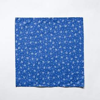 Blade + Blue Royal Blue with Botanical Print Pocket Square