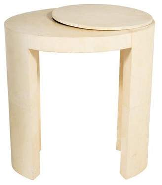 R & Y Augousti R&Y Augousti Creme Oval Side Table
