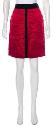 Robert Rodriguez Silk Mini Pencil Skirt