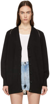 e5d1bbe3370c Alexander Wang Black Splittable Zip Cardigan