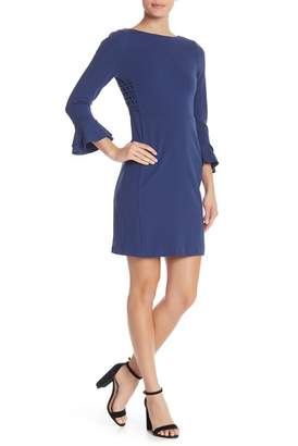 Spense 3\u002F4 Sleeve Scuba Sheath Solid Dress