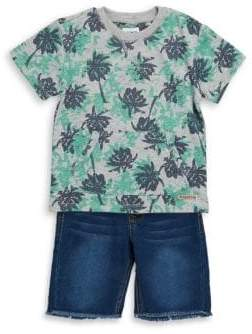 Hudson Baby Boy's Two-Piece Tee and Shorts Set