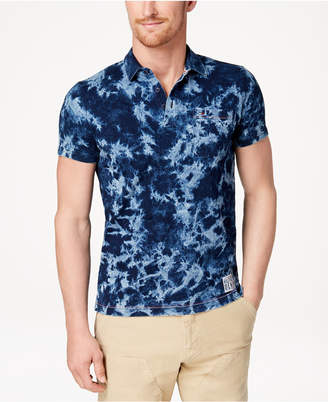 Tommy Hilfiger Men's Custom-Fit Tie-Dyed Polo, Created for Macy's
