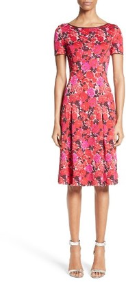 Women's St. John Collection Indian Rose Blister Jacquard Dress $1,195 thestylecure.com
