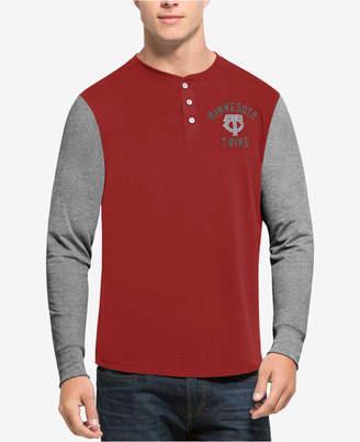 '47 Men Minnesota Twins Downfield Henley Long-Sleeve T-Shirt