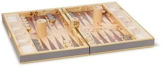 AERIN Croc Embossed Backgammon Set