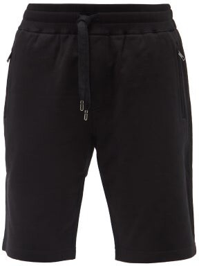 Dolce & Gabbana Logo Cotton Jersey Shorts - Mens - Black