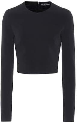 David Koma Cady crop top