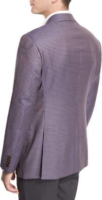 Armani Collezioni G-Line Mini-Check Sport Jacket, Purple