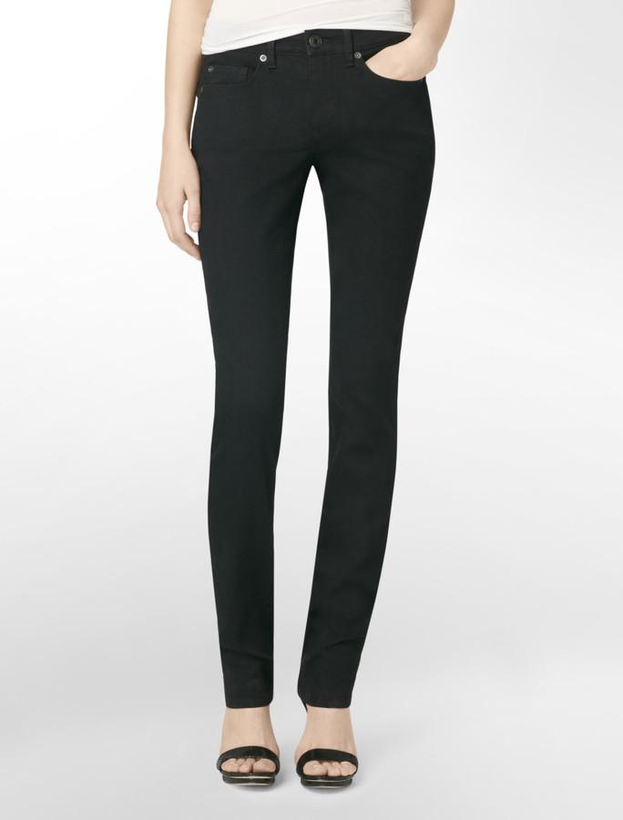 Calvin Klein Jeans Body Slim Fit Curvy Skinny Black Wash