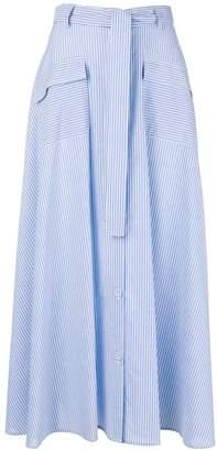 Sjyp striped midi skirt