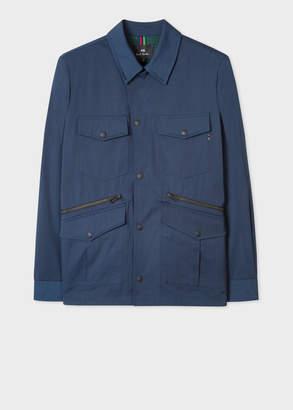 Paul Smith Men's Slate Blue Cotton-Blend Field Jacket