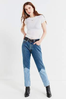 Urban Renewal Vintage Recycled Seamed Panel Levi's Jeans