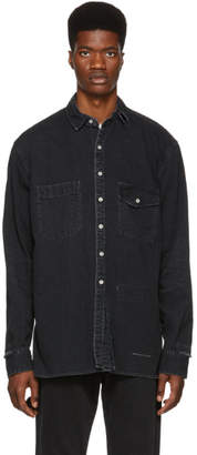 Miharayasuhiro Black Outosewing Denim Shirt