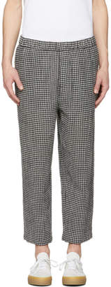 McQ Black and White Gingham Neukolln Trousers