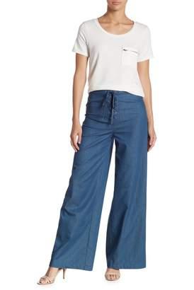 Gilli Lace-Up Chambray Pants