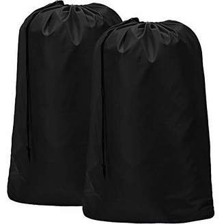 Laundry by Shelli Segal HOMEST 2 Pack Extra Large Travel Nylon Laundry Bag [28''x40''] Machine Washable Sturdy Rip-Stop Material Drawstring Closure