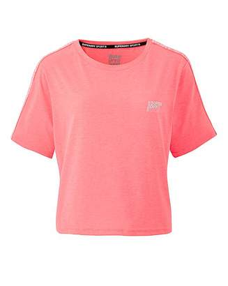 Superdry Core Crop Branded Tee