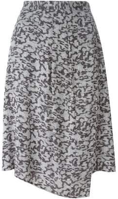 Carven graphic print asymmetric skirt