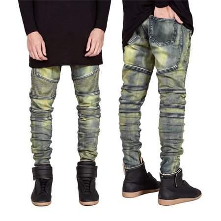 Generic Denim Trousers Elastic Jeans Trendy Designed Straight Slim Fit Jeans Pant