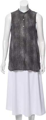 Eileen Fisher Printed Silk Top