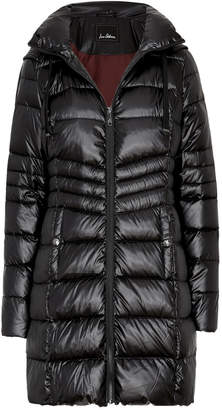 Sam Edelman 3/4 Ruched Hooded Soft Down Puffer
